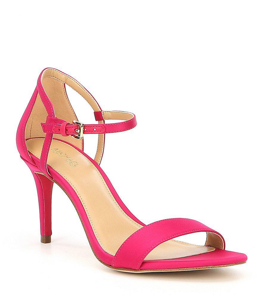 4dff75b98d2f Lyst - MICHAEL Michael Kors Simone Mid Dress Sandals in Black
