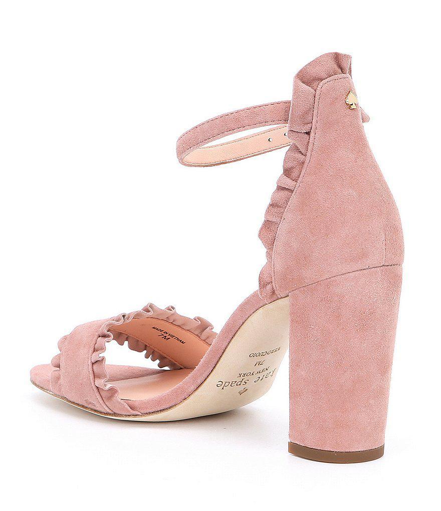 Odele Suede Ankle Strap Block Heel Dress Sandals eZmY5o9