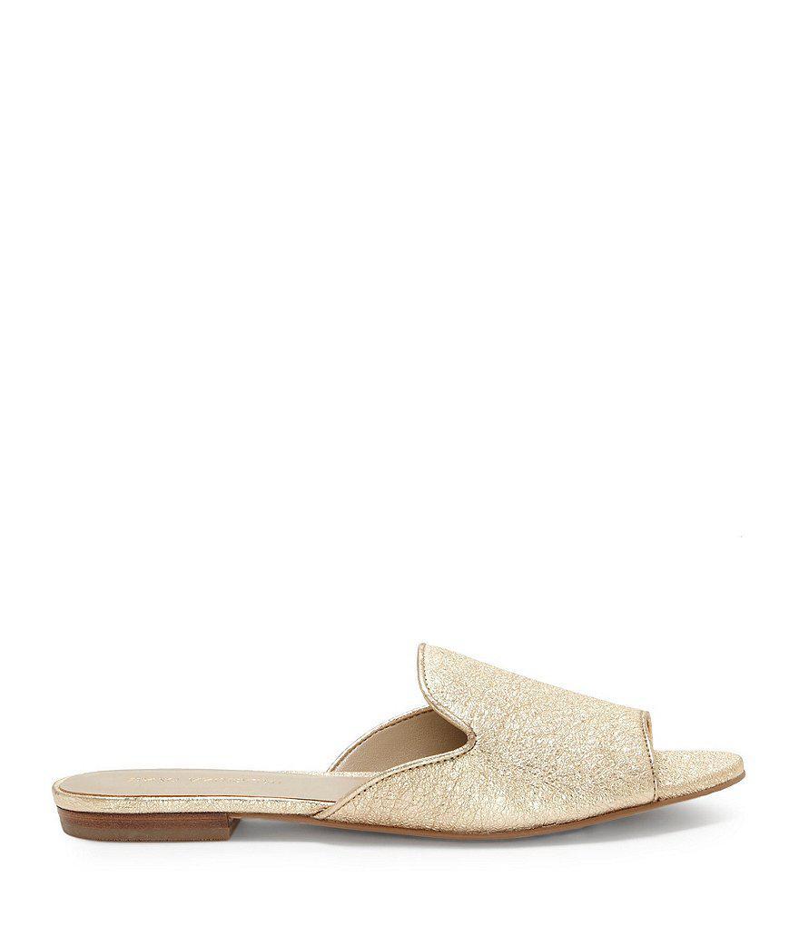 Merilyn Metallic Leather Dress Sandals u2284Pe