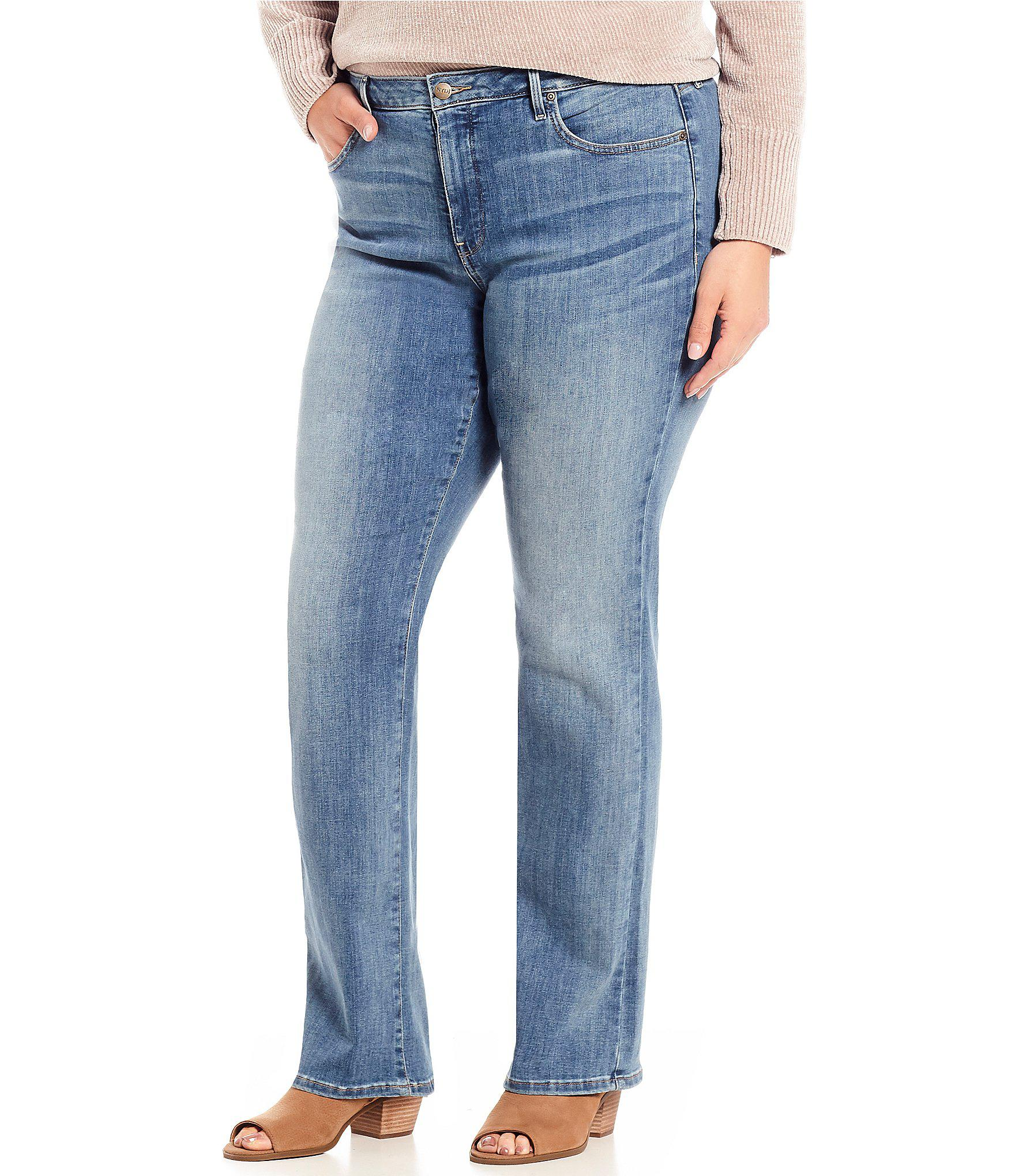 c378d9837ae Lyst - Nydj Plus Size Barbara Bootcut Jeans in Blue
