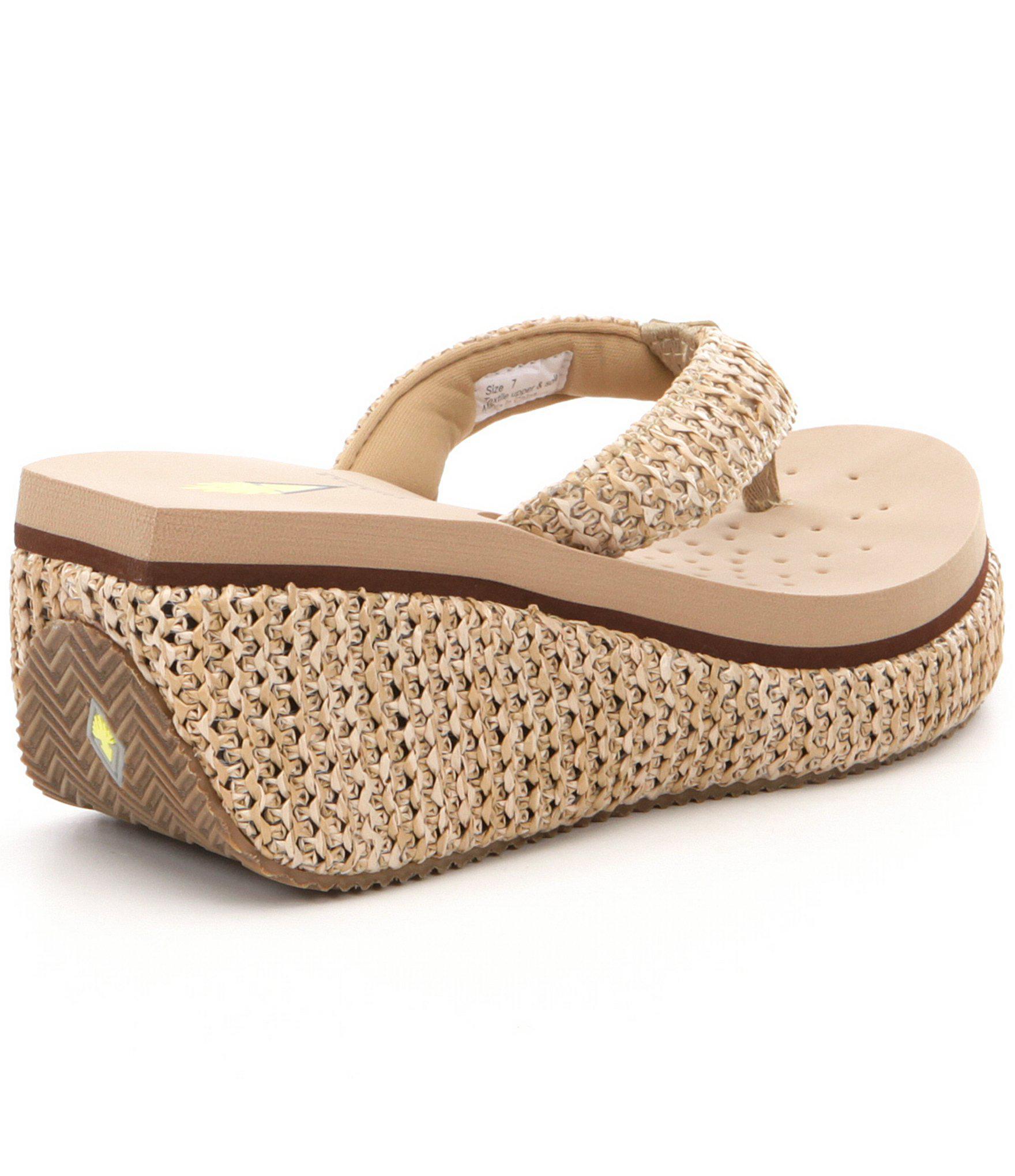 f65d07d231 Volatile - Natural Zadie Raffia Platform Wedge Sandals - Lyst. View  fullscreen