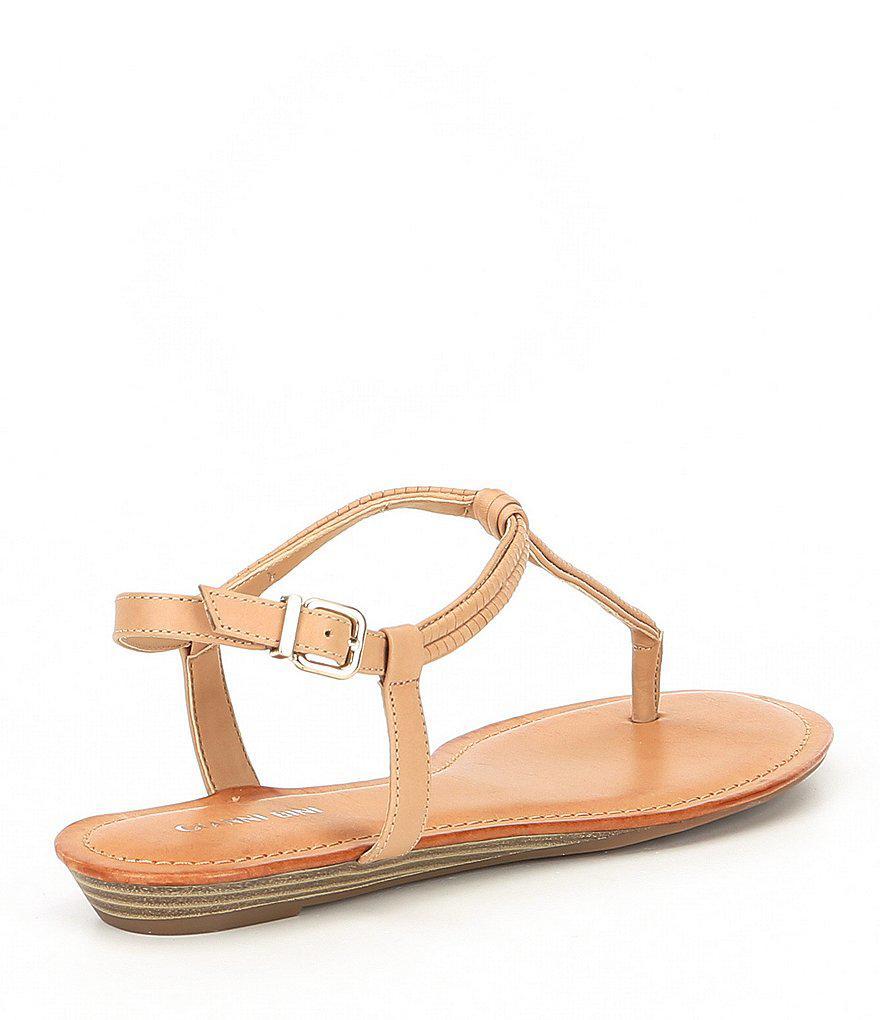 Gianni Bini Mazzee Braided T-Strap Flat Sandals BKxwv0us