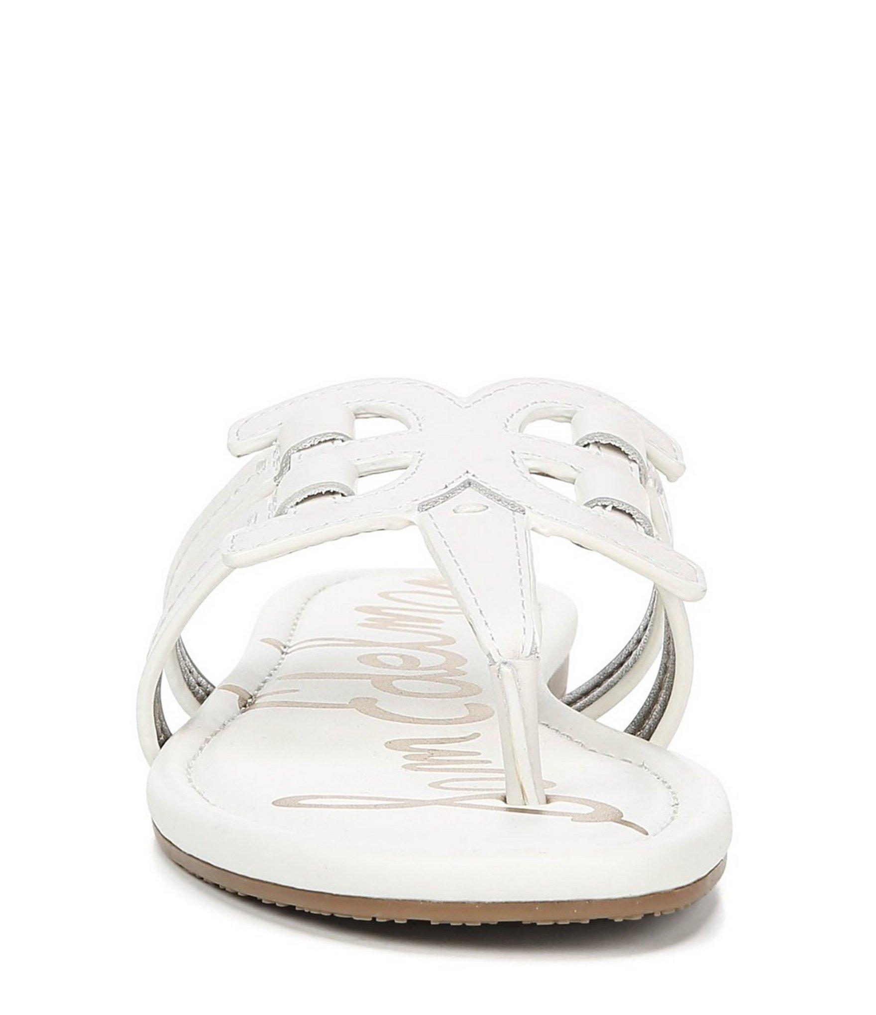 374abd6dd Lyst - Sam Edelman Cara Leather Double E Sandals in White