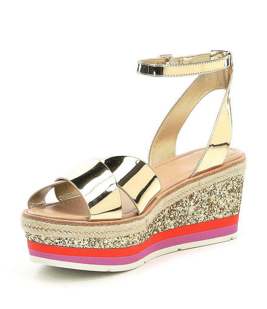 ALDO Asiella Metallic Glitter Flatform Sandals p7Wz4VU