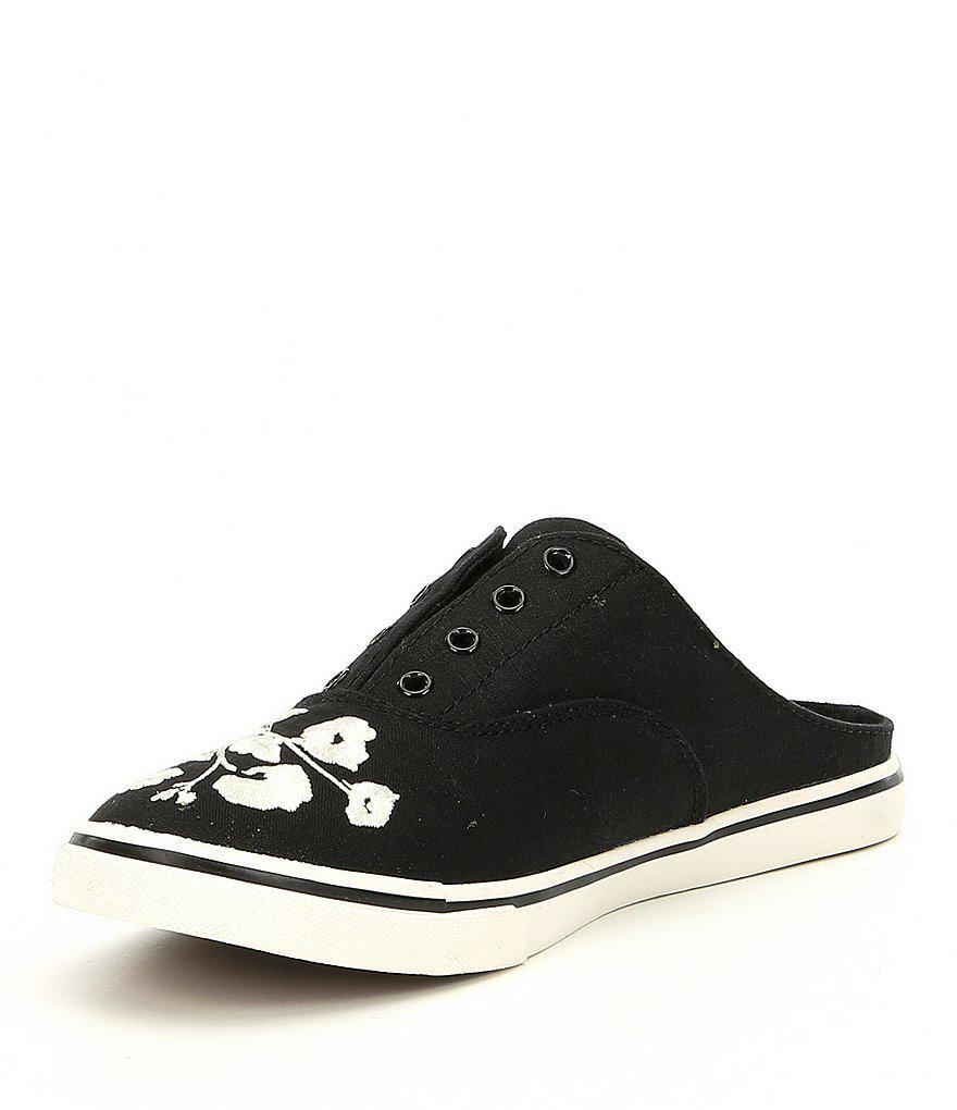 Lauren Ralph Lauren Jaida II Linen Floral Embroidered Slip-On Sneakers 48Ho2HQ0P