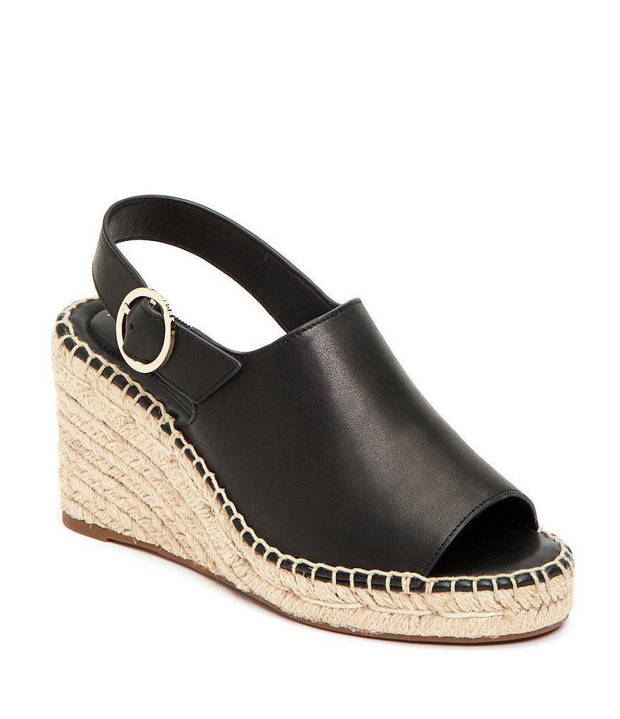 f0039e35f40 Lyst - Taryn Rose Winnie Espadrille Wedge Sandals in Black
