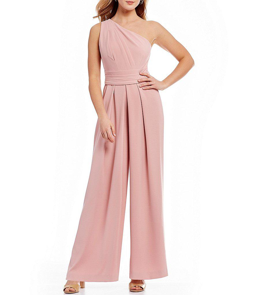6bfce36f199 Antonio Melani Helena One Shoulder Jumpsuit in Pink - Lyst