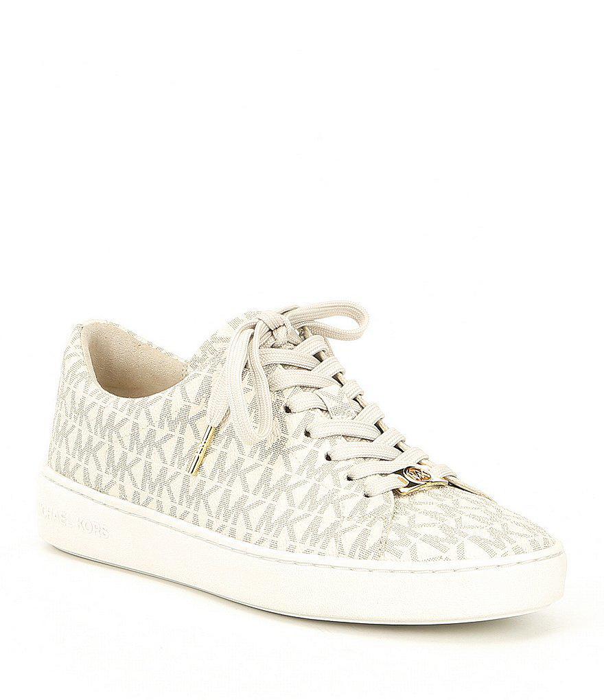 f6d09dfcb9d Lyst - MICHAEL Michael Kors Keaton Lace Up Sneakers in White