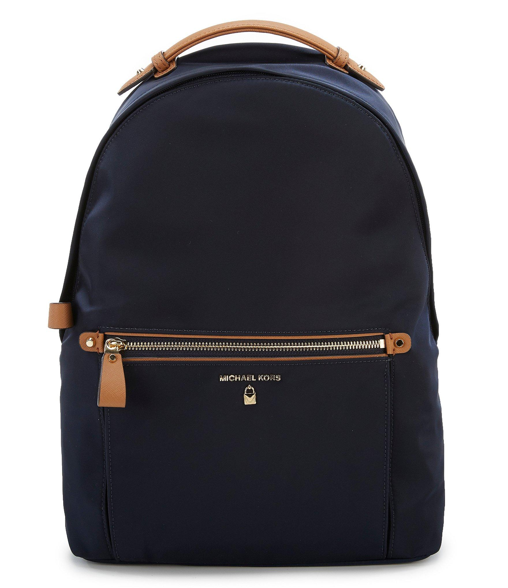 a990d886e341 Lyst - MICHAEL Michael Kors Kelsey Nylon Large Backpack in Blue
