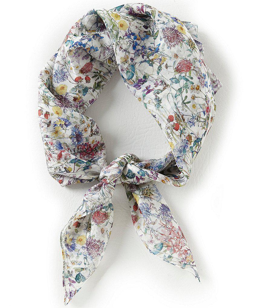 Lyst Antonio Melani Wild Flowers Silk Square Scarf In White