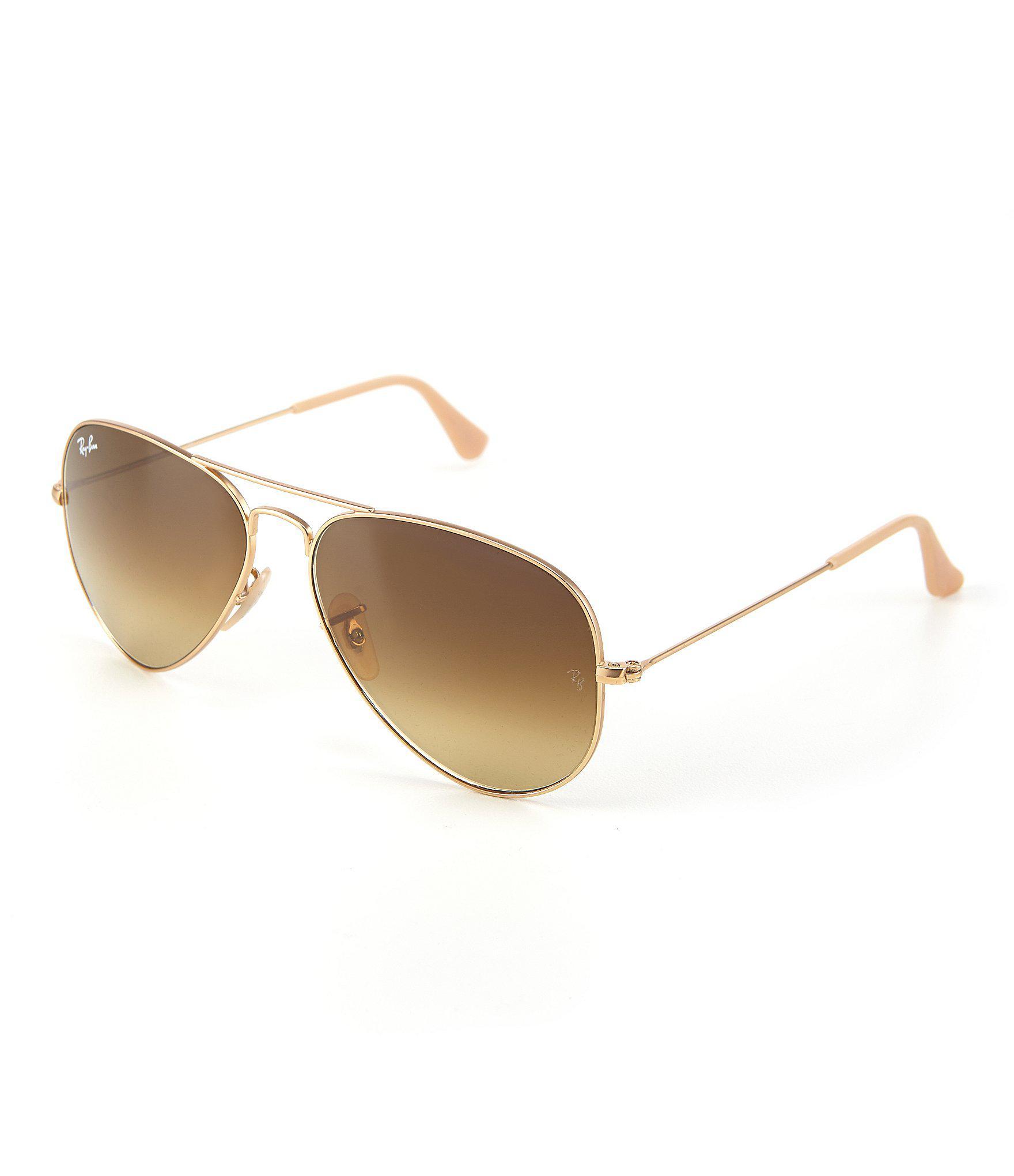 eca2c088fdbe Lyst - Ray-Ban Large Metal Double Bridge Aviator Sunglasses in Black