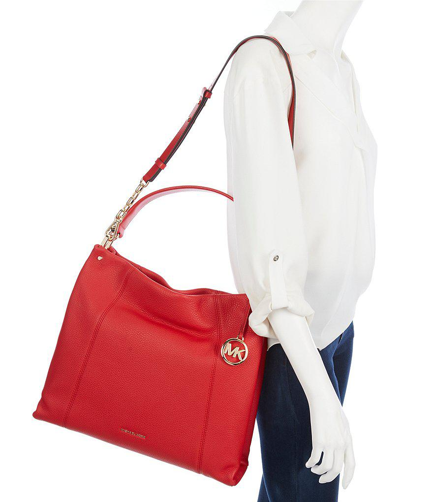 276726737c74 MICHAEL Michael Kors Lex Large Convertible Hobo Bag in Red - Lyst