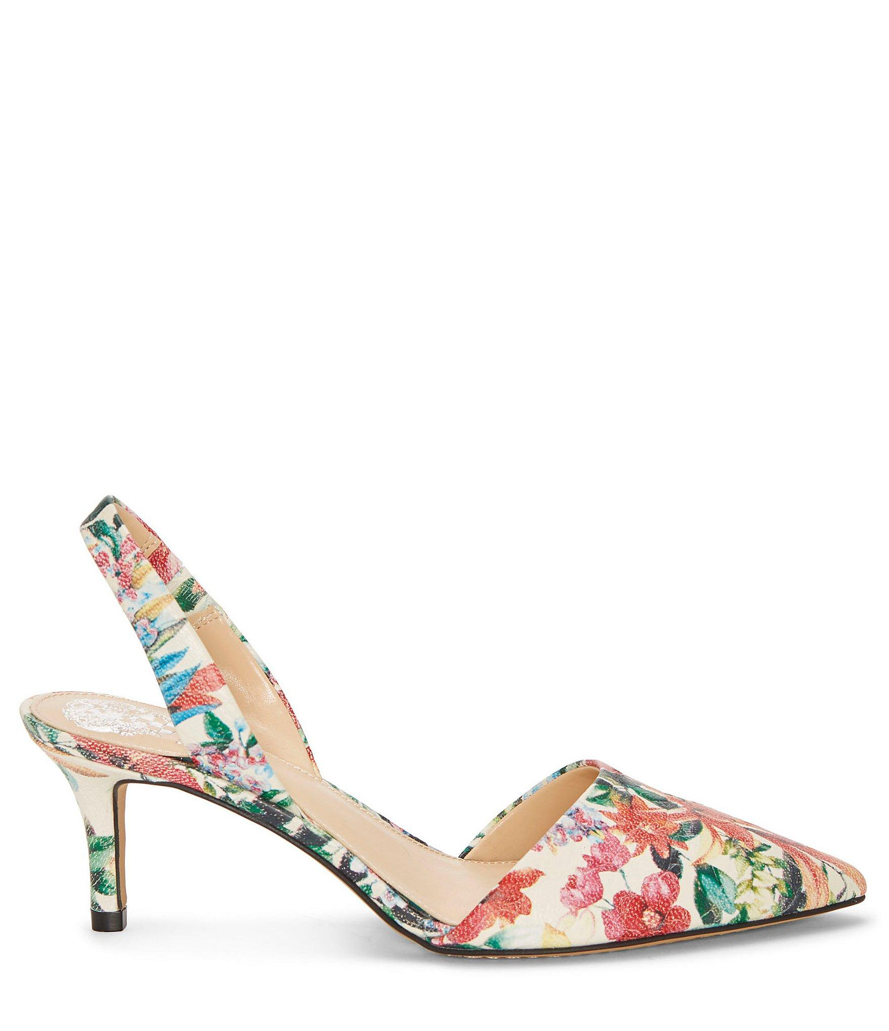 b8497fe24fb3 Vince Camuto - Multicolor Kolissa Floral Leather Dress Pumps - Lyst. View  fullscreen