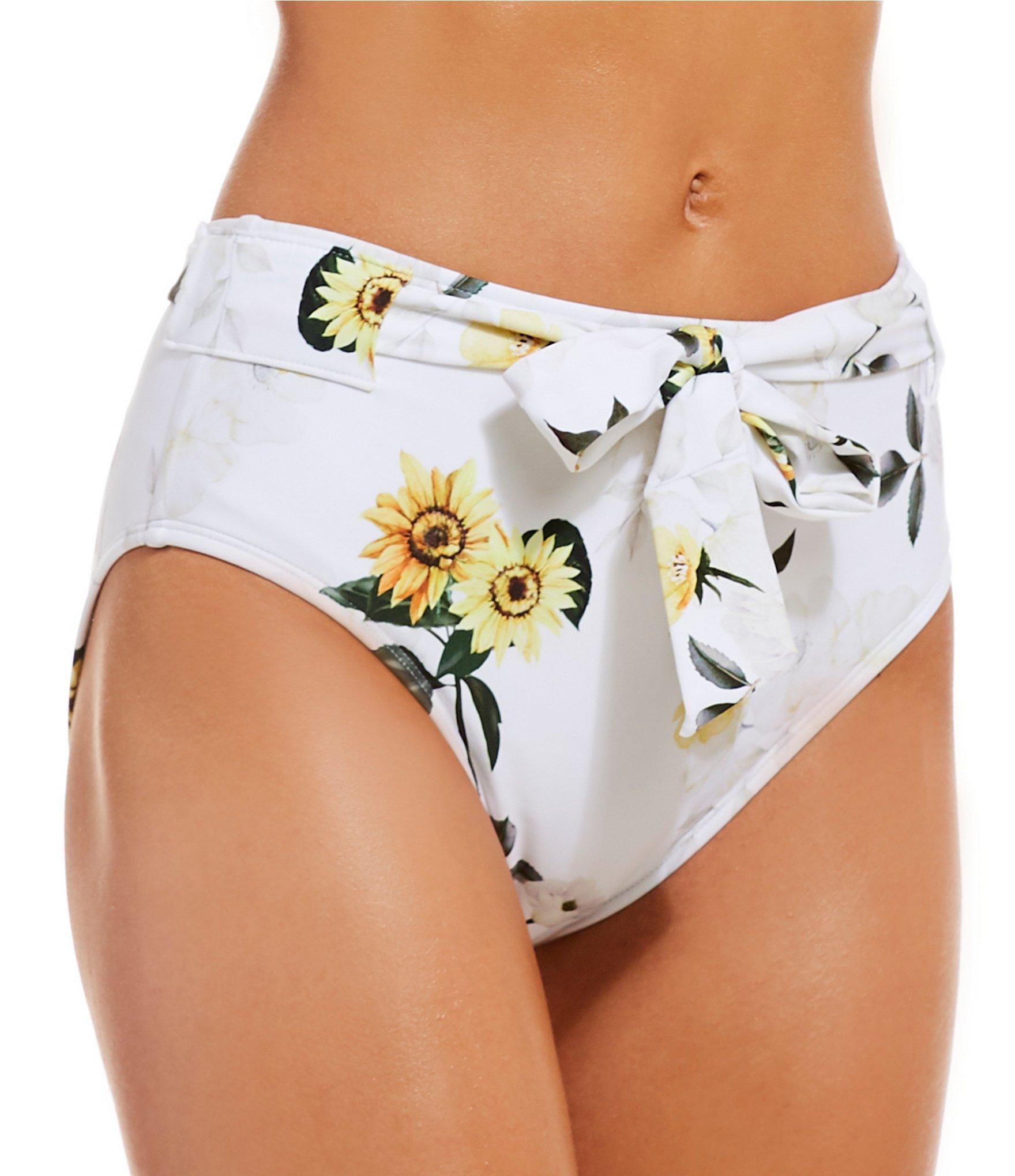 6c35f53224b Antonio Melani Floral Print Belted Highwaist Bikini Swimsuit Bottom ...