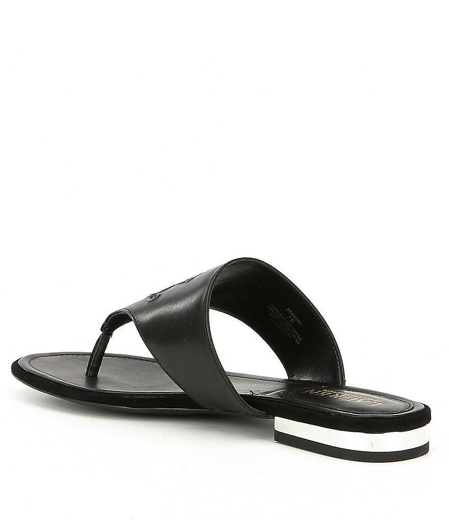Deandra Leather Thong Sandals 9kGuINaf