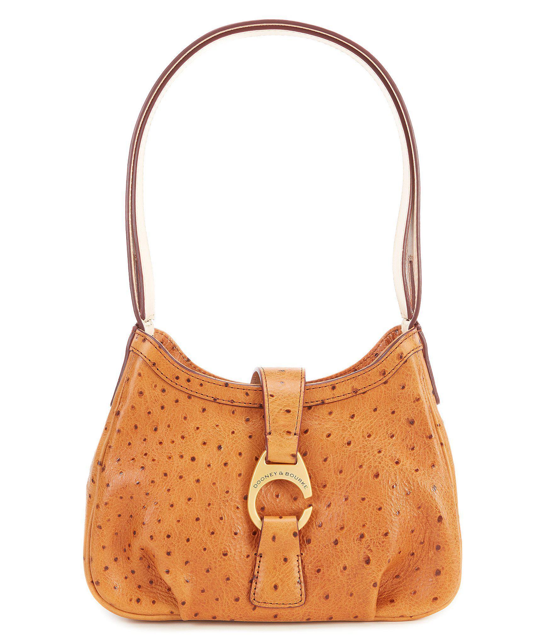 Lyst - Dooney   Bourke Derby Ostrich Collection Shoulder Bag in Natural e13890113522b