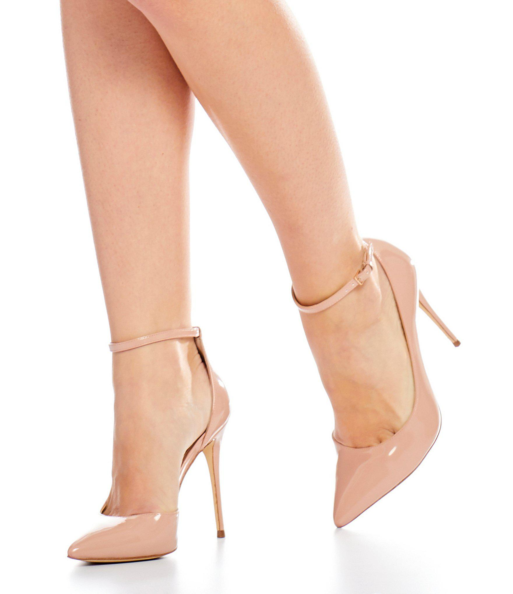 2a6873284406 Lyst - ALDO Stacey Ankle Strap Pumps in Pink