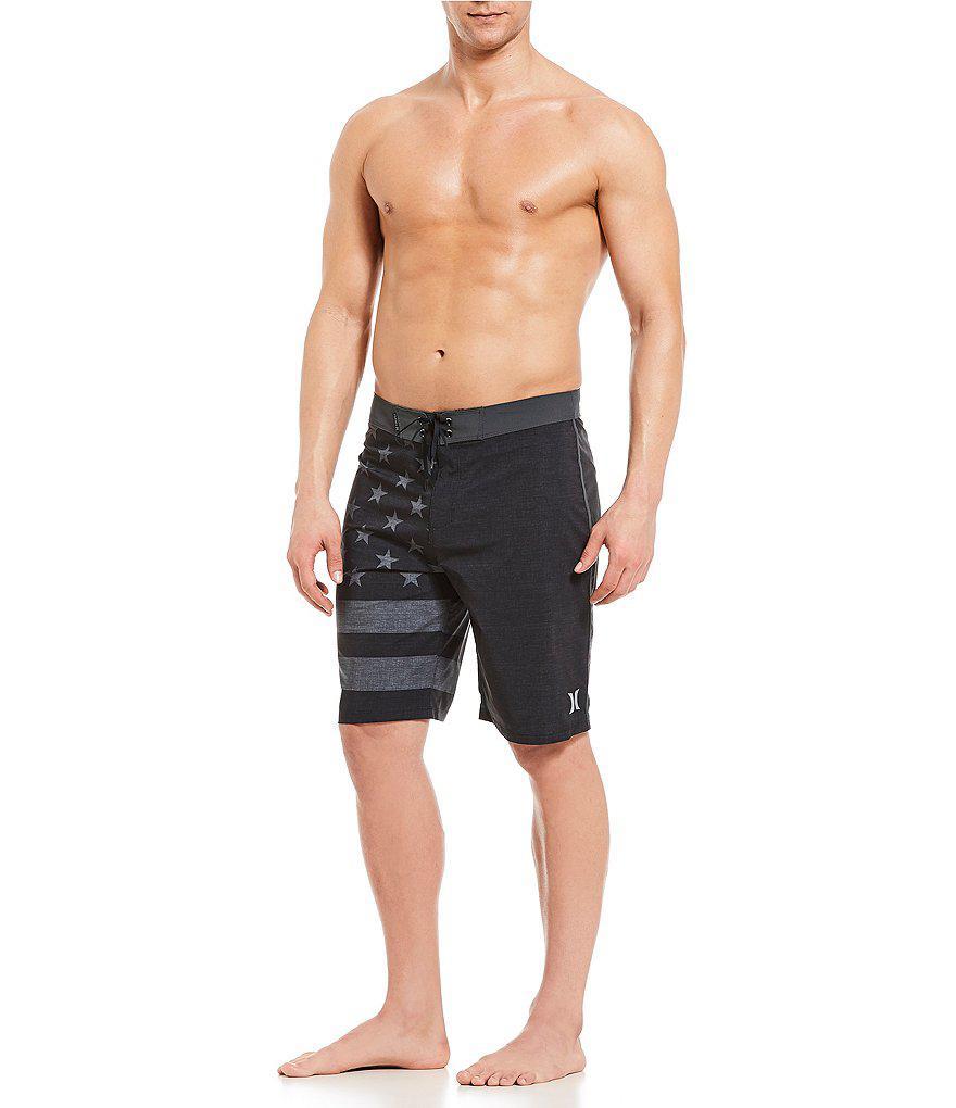 214e70e69ccec Hurley Phantom Cheer Americana Board Shorts in Black for Men - Lyst