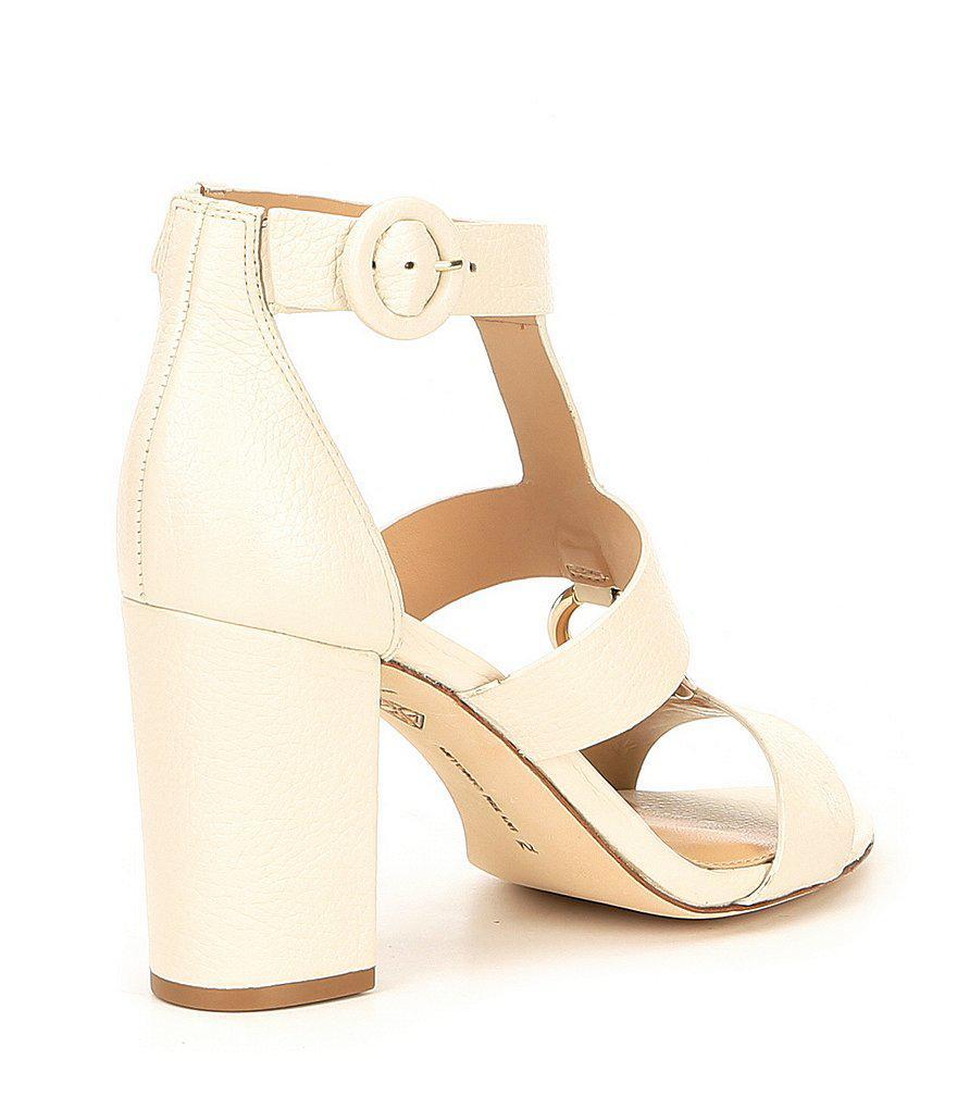 Antonio Melani Olyvian Leather Block Heel Dress Sandals D8r6Z2