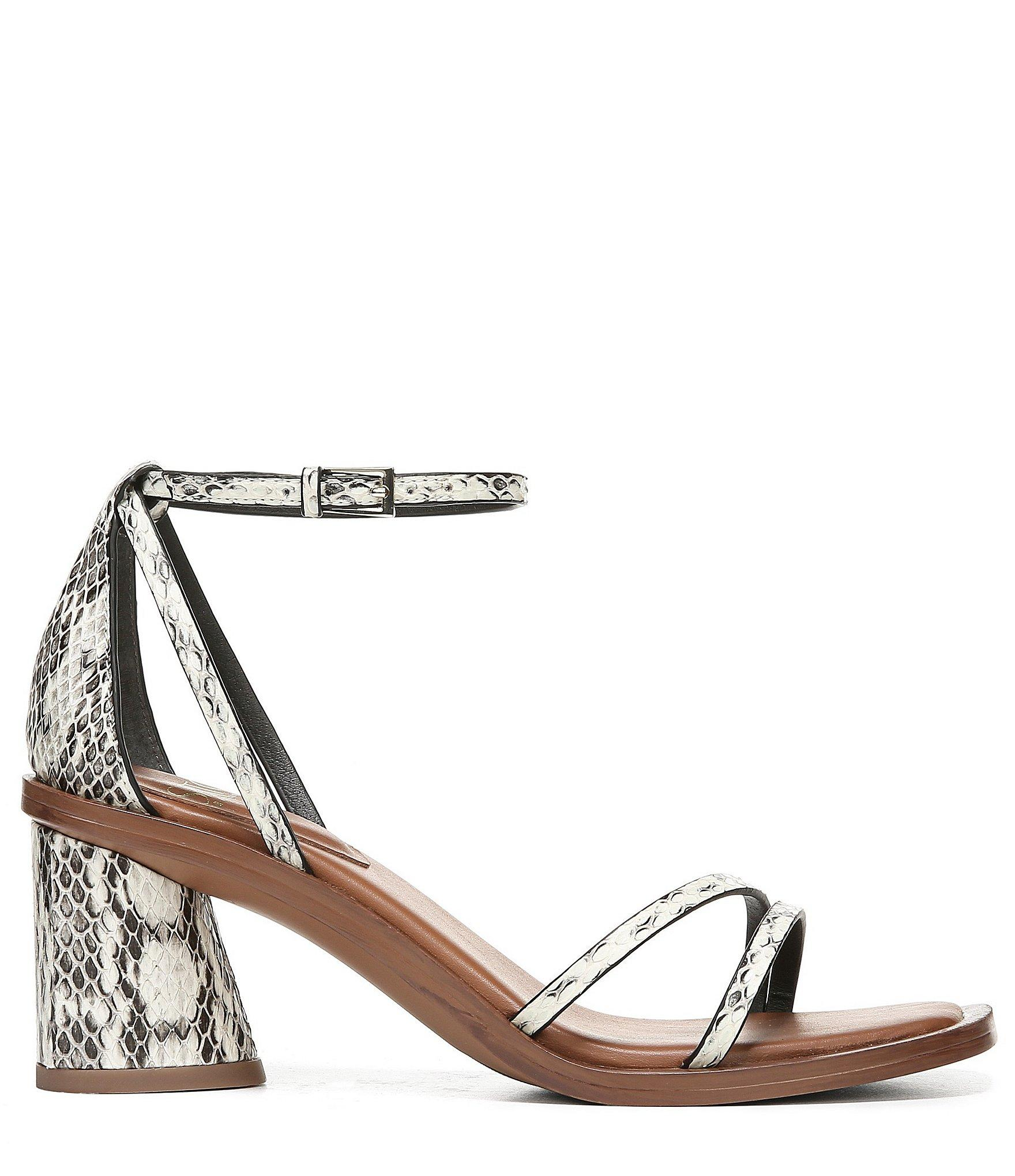 ab1a007bc0b78 Lyst - Franco Sarto Sarto By Ronelle 2 Snake Print Leather Block ...