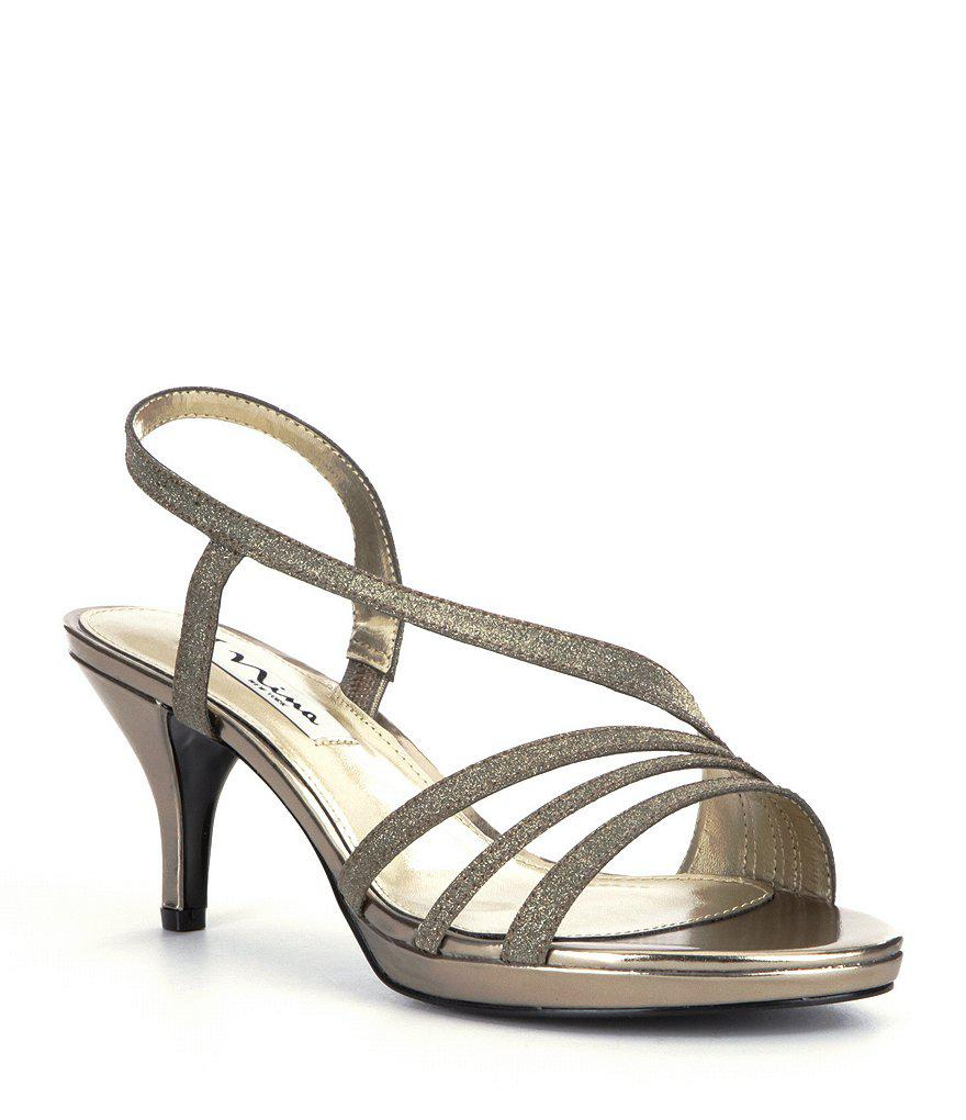 Neely Glitter Fabric Slip-On Dress Sandals gUqDMtL