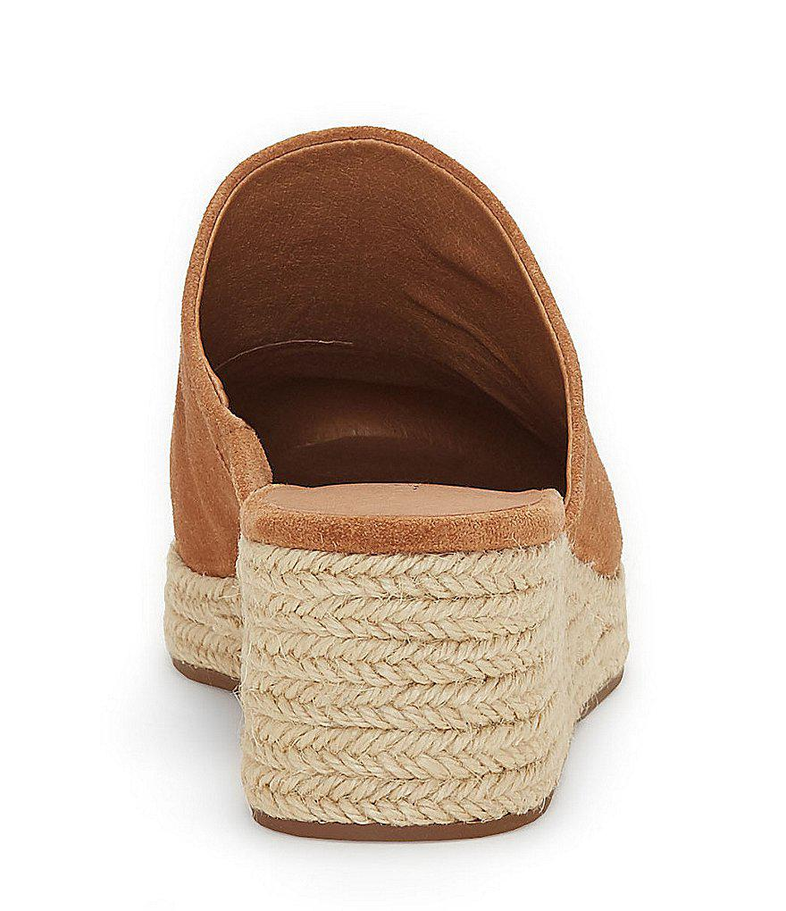 Lidwina Suede Espadrille Wedge Mules SdjXgpy