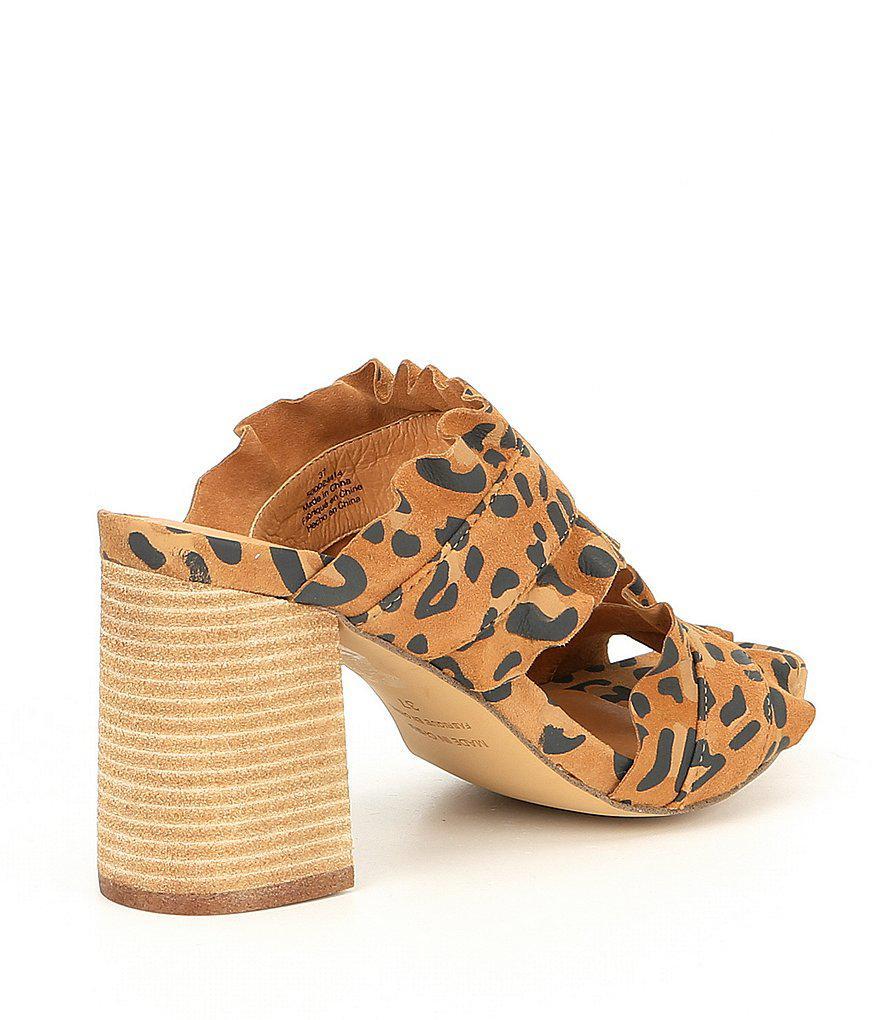 Rosie Ruffle Block Heel Slides dtAltJkj9u
