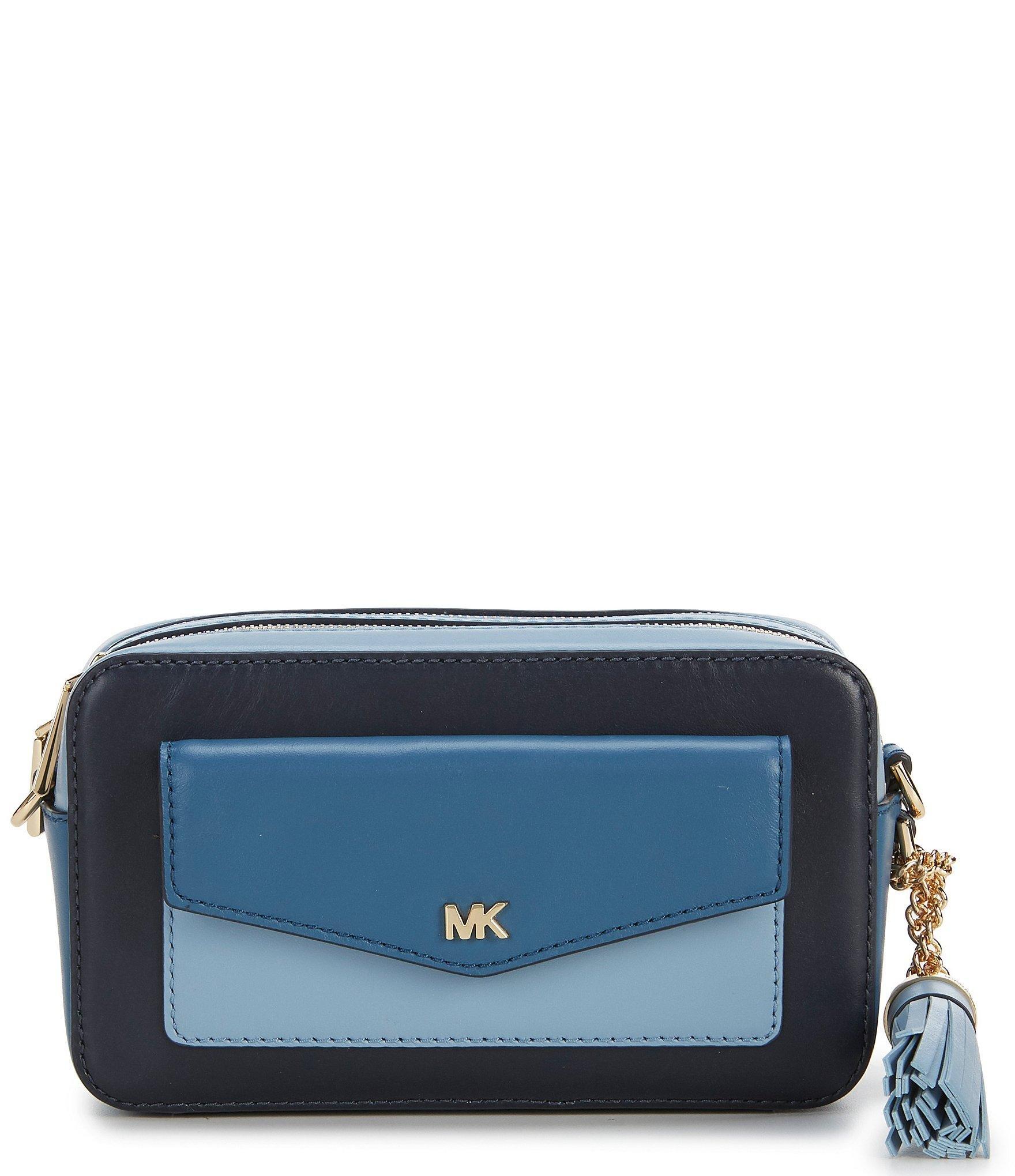 ab0aa9d169 MICHAEL Michael Kors. Women s Blue Small Tri-color Pocket Camera Cross-body  Bag