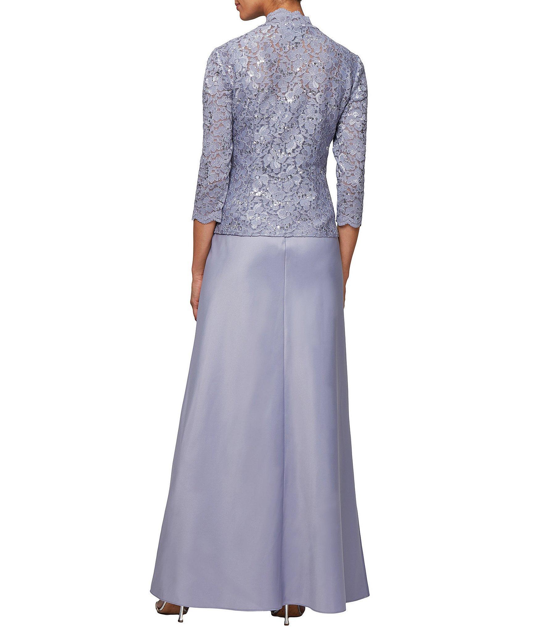 a2eeed9597a Alex Evenings - Purple Petite Size 2-piece Lace Long Jacket Dress - Lyst.  View fullscreen