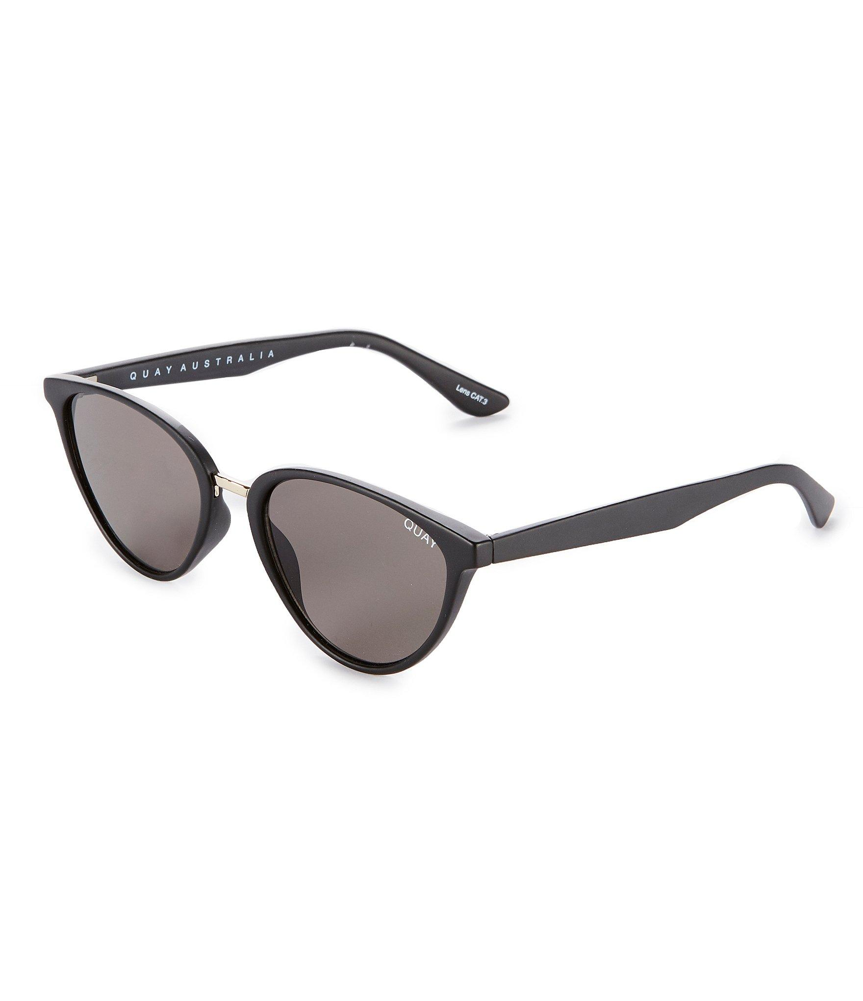 41b088cc3b86d Quay - Black Rumors Round Cat-eye Sunglasses - Lyst. View fullscreen