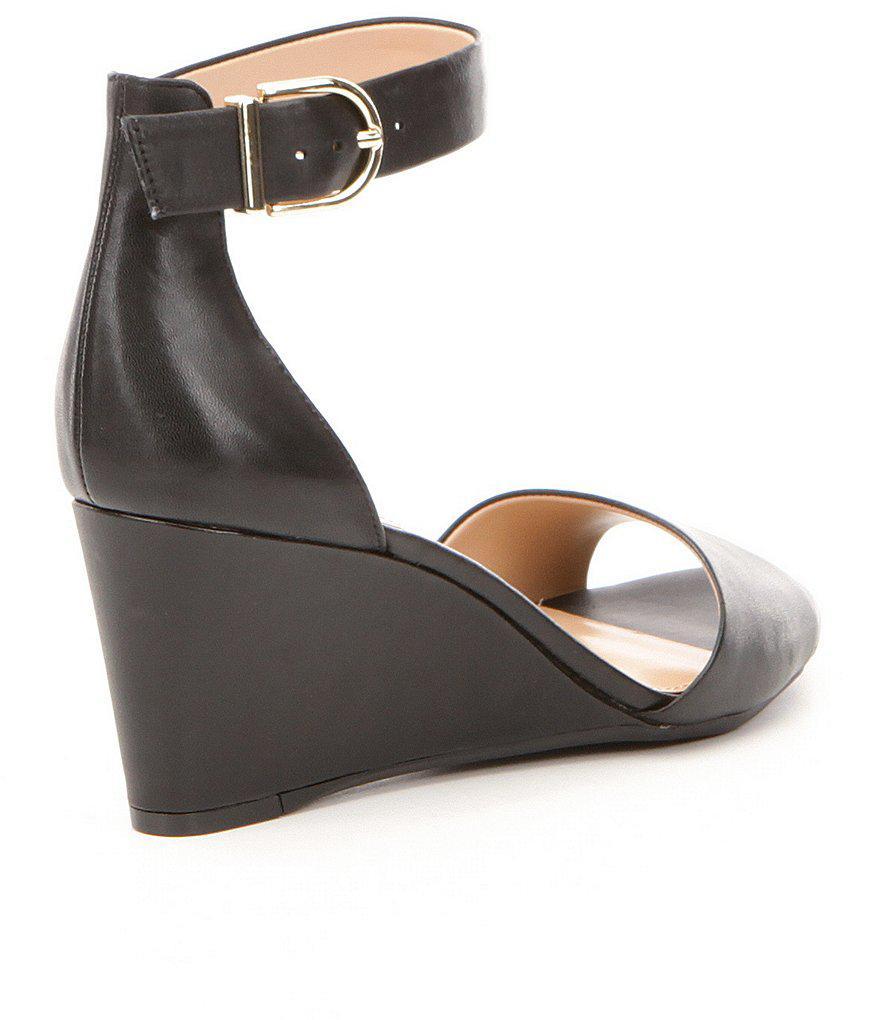 Antonio Melani Lynnette Ankle Strap and Buckle Wedges Sx3de7