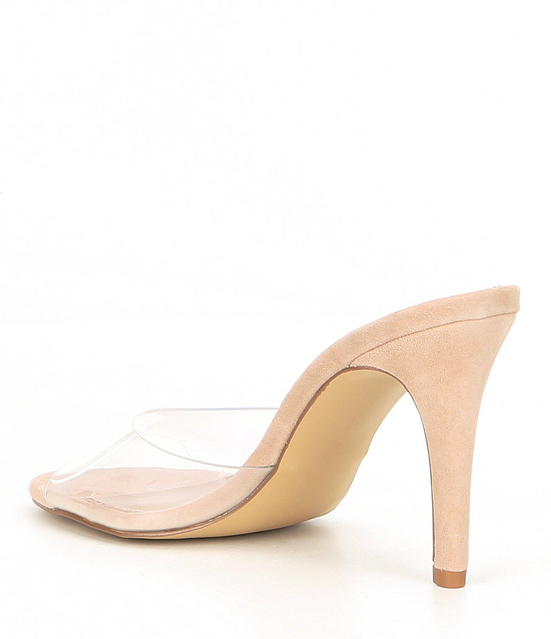 75a7f861bb2 Steve Madden - Multicolor Erin Clear Stiletto Sandals - Lyst. View  fullscreen
