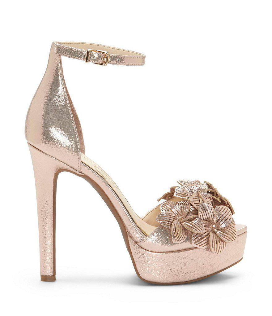 bb58d124a49 Lyst - Jessica Simpson Mayfaran Platform Dress Sandals in Metallic