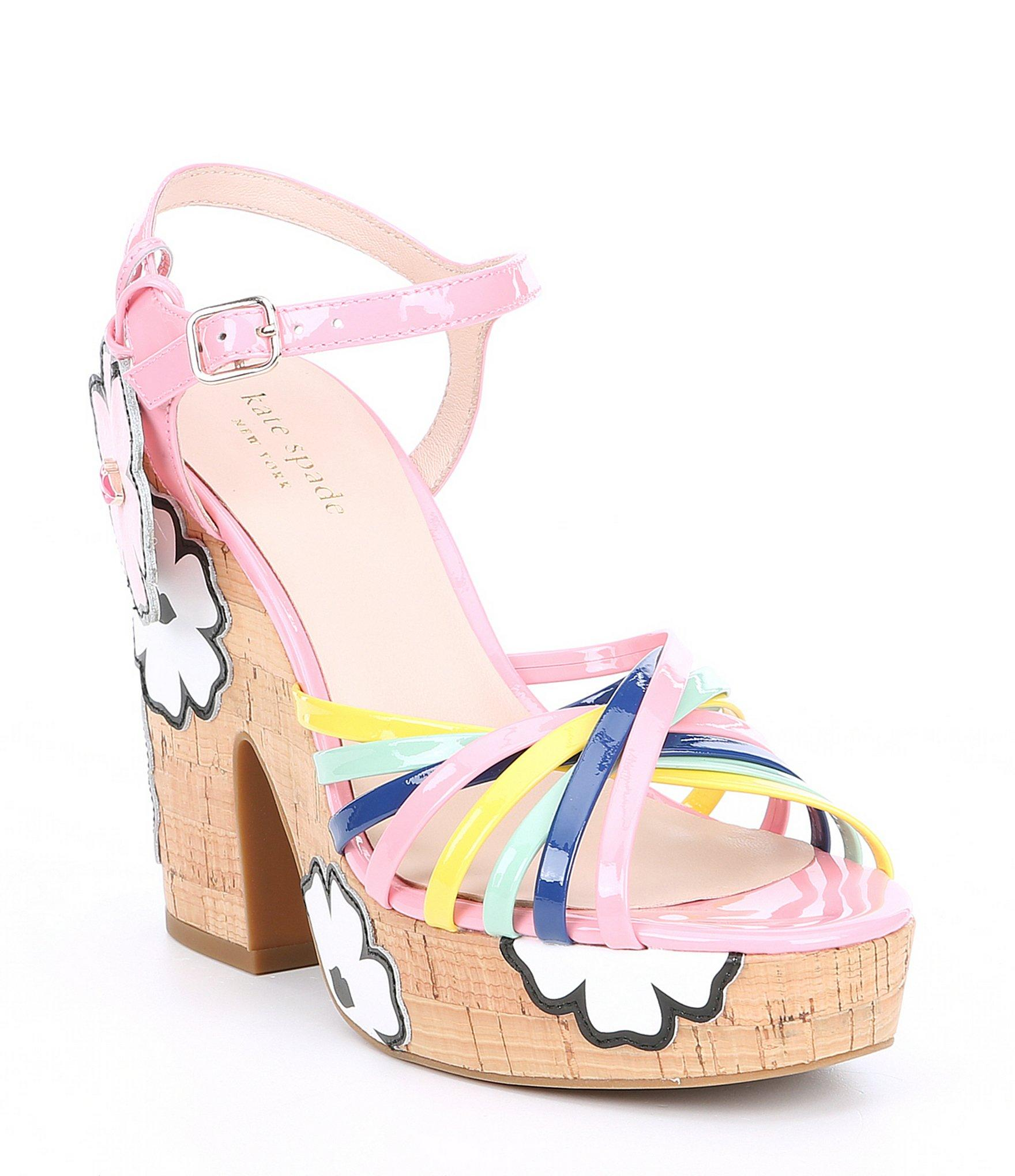 acfb605e208e Kate Spade - Pink Gerry Patent Leather Platform Sandals - Lyst. View  fullscreen