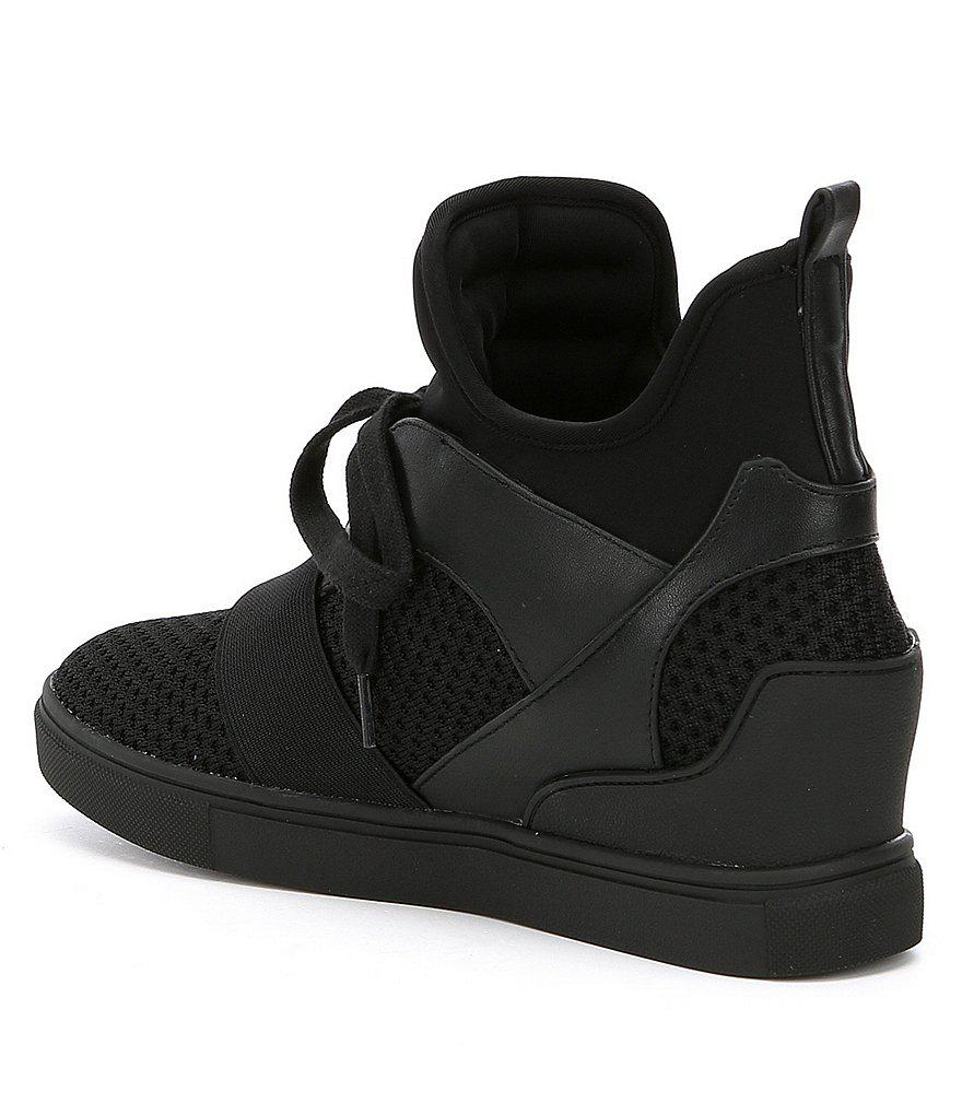 cdcd4129b4b Lyst - Steve Madden Lexi Wedge Sneakers in White