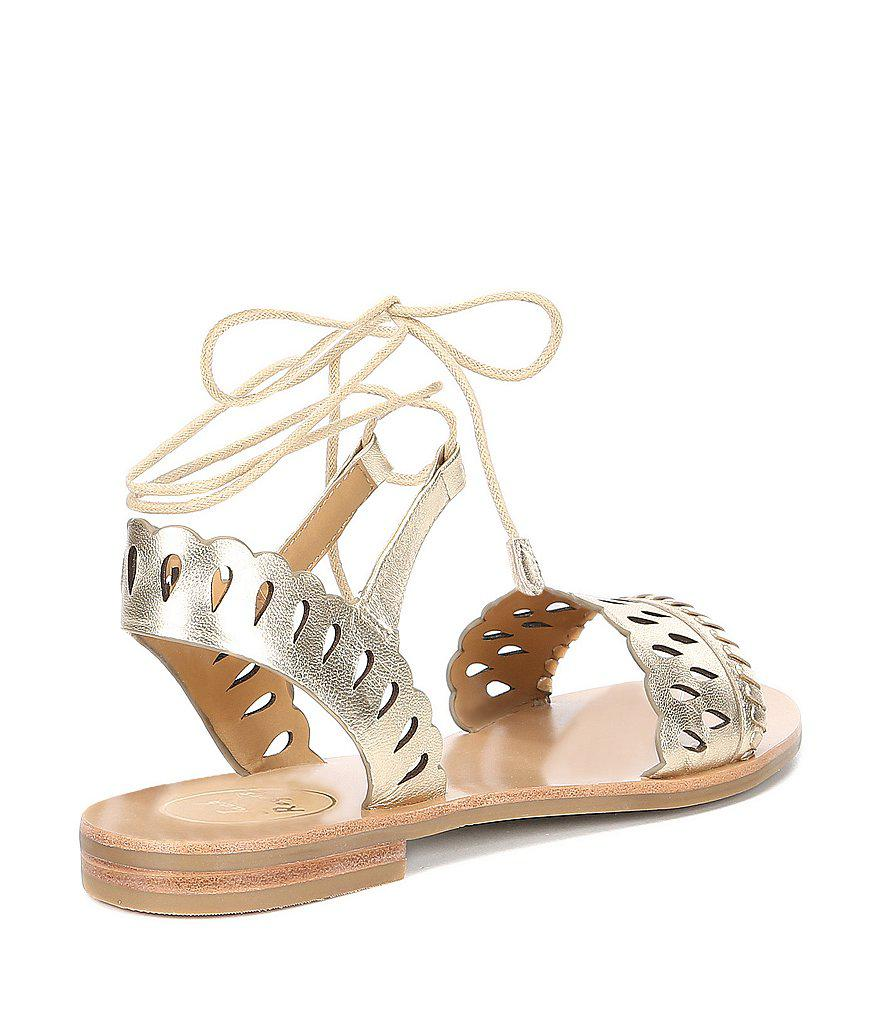 Ruby Laser Perforated Suede Sandals F03AEZqzkD