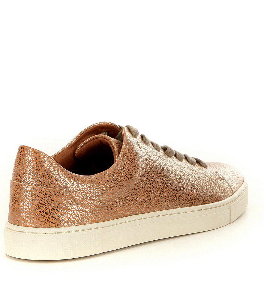 Ivy Metallic Leather Low Lace-Up Sneakers 8Aoi07