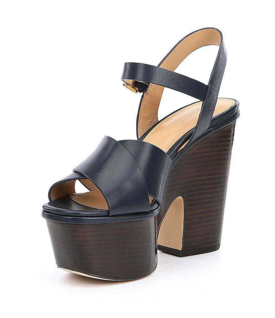 3789667ad83 Lyst - MICHAEL Michael Kors Divia Platform Wedge Sandals in Brown