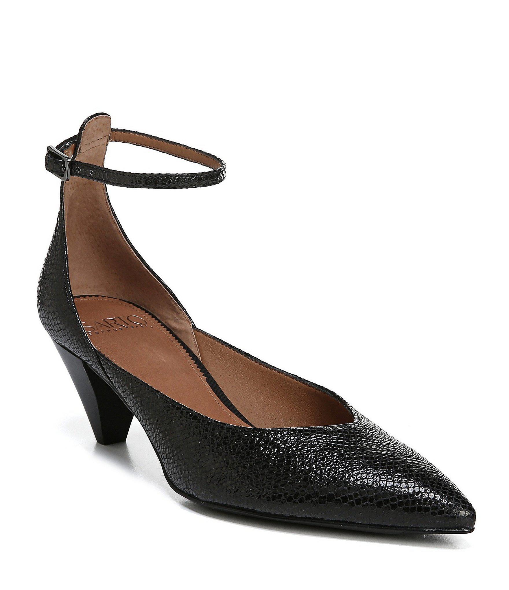 c9f5dba34ff00 Franco Sarto Sarto By Coralie Ankle Strap Leather Pumps in Black - Lyst