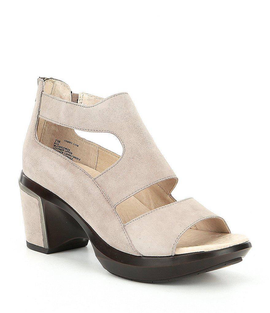 Rio Nubuck Block Sandals 9EaXuf5DvV
