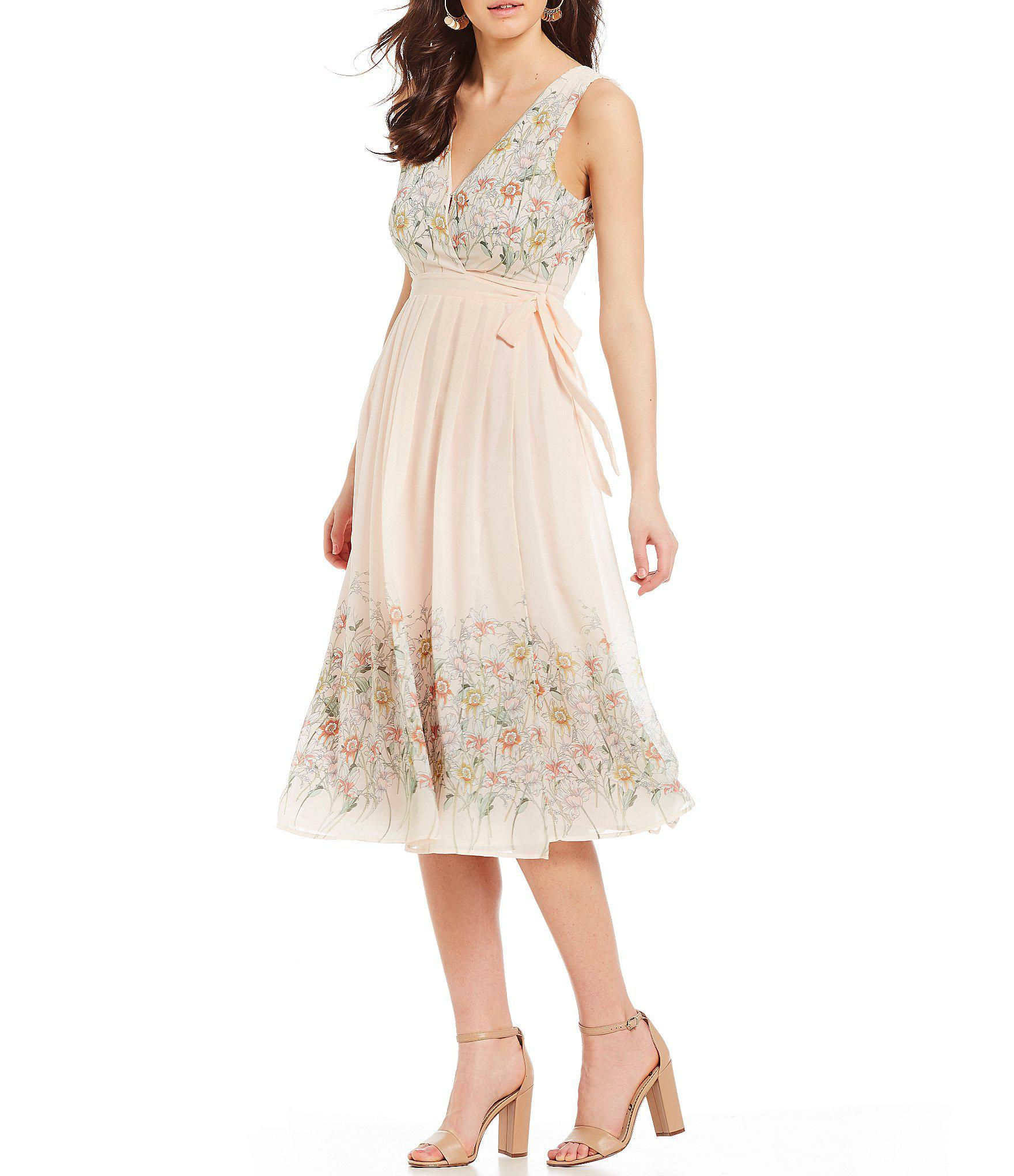 7506a4836ea7 Astr Bristol Floral Print A-line Midi Dress - Lyst