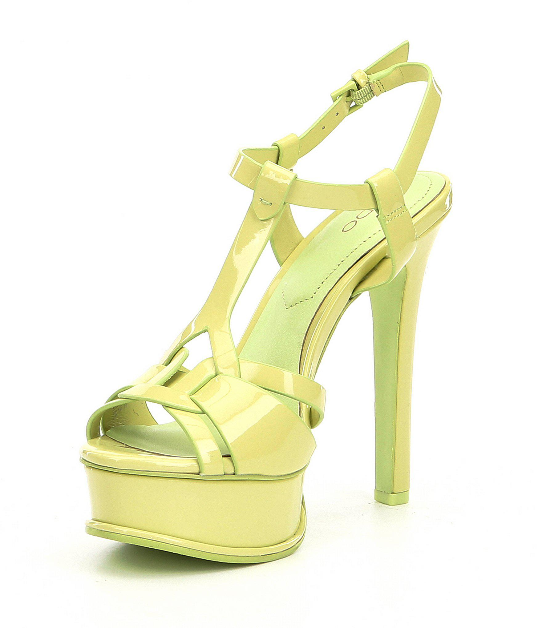 2fe74335ad9 Lyst - ALDO Chelly Platform Dress Sandals in Green