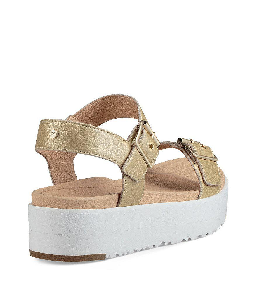 Angie Metallic Buckle Sandals HL1xY