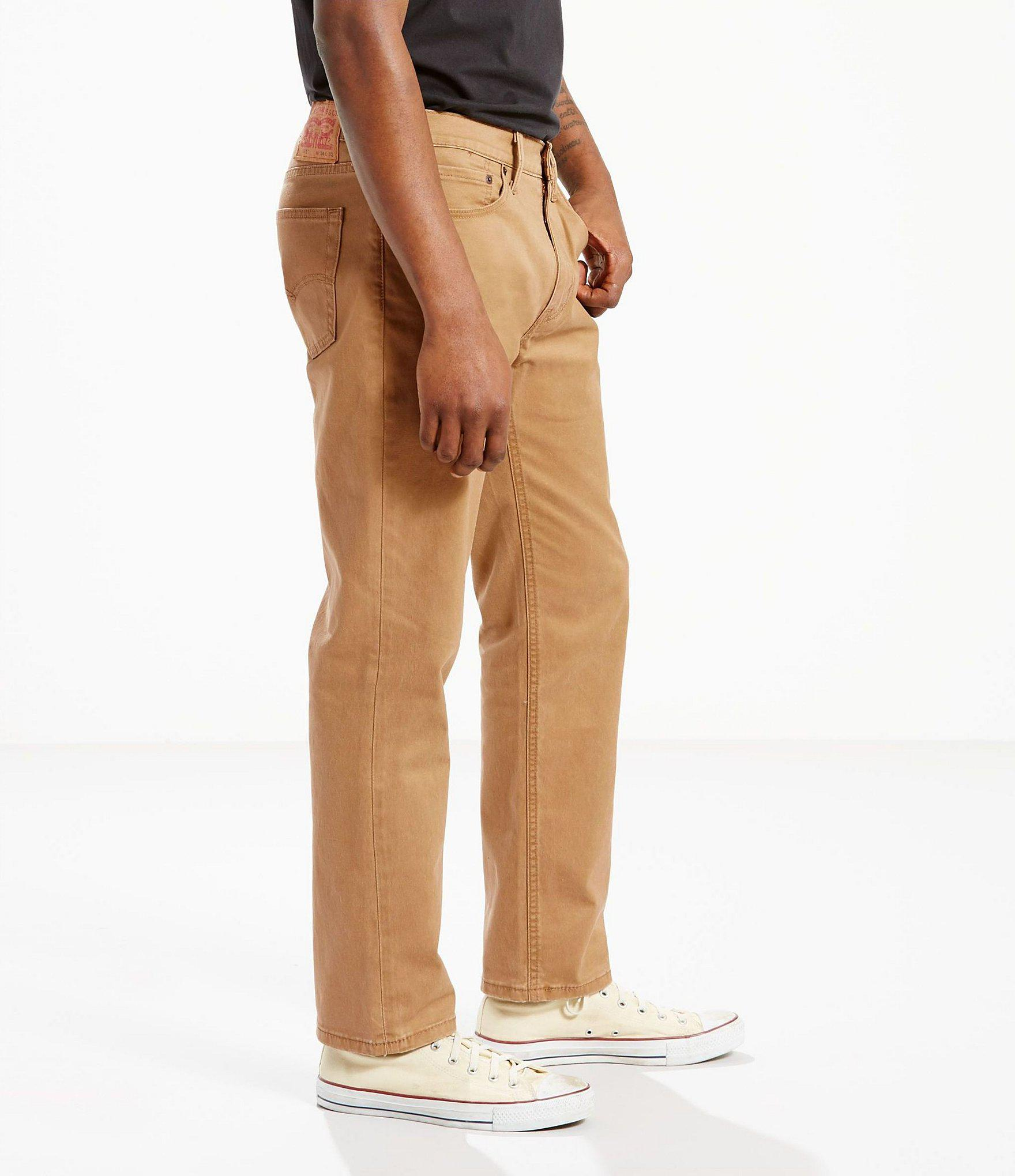 437e88dc87e Levi's - Brown 541 Athletic-fit Stretch Twill Flat Front Pants for Men -  Lyst. View fullscreen
