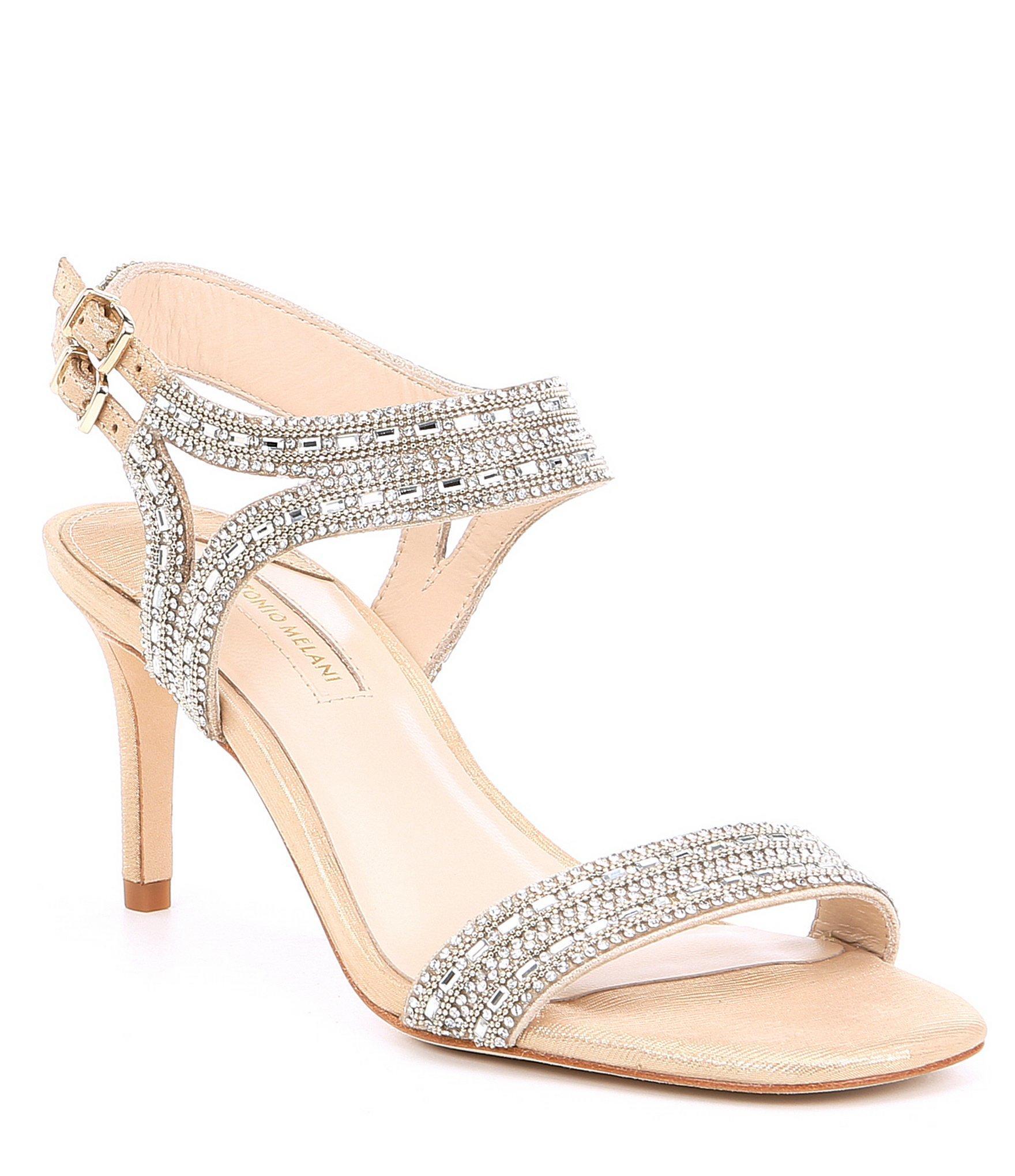 a48164547 Lyst - Antonio Melani Haelee Rhinestone Dress Sandals