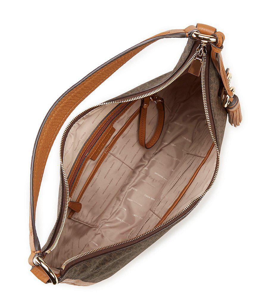 186a84c5c1f1d6 ... release date purchase cheap dillards michael kors handbags michael  michael kors signature lydia large hobo bag