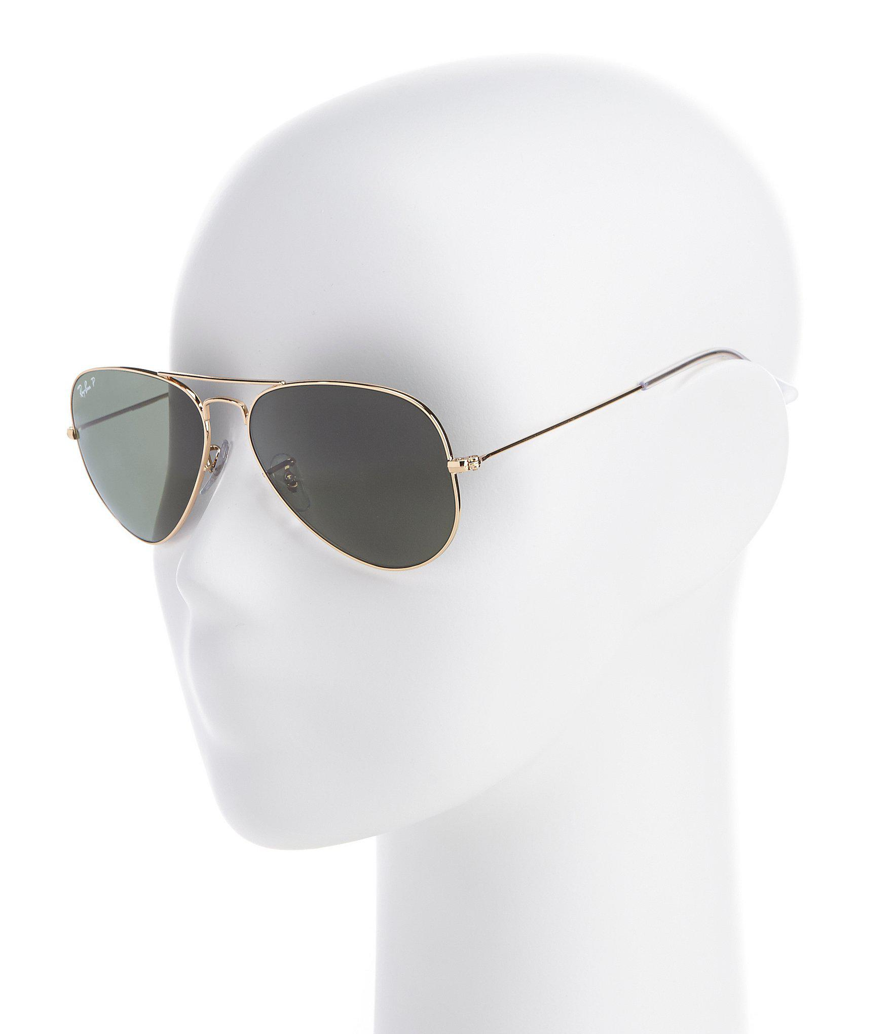 4768574a9d1a Lyst - Ray-Ban Polarized Metal Uv Protection Aviator Sunglasses in ...
