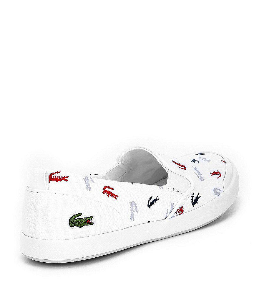 Lacoste Lancelle Slip On 218 1 Caw Scribble Gator Sneakers