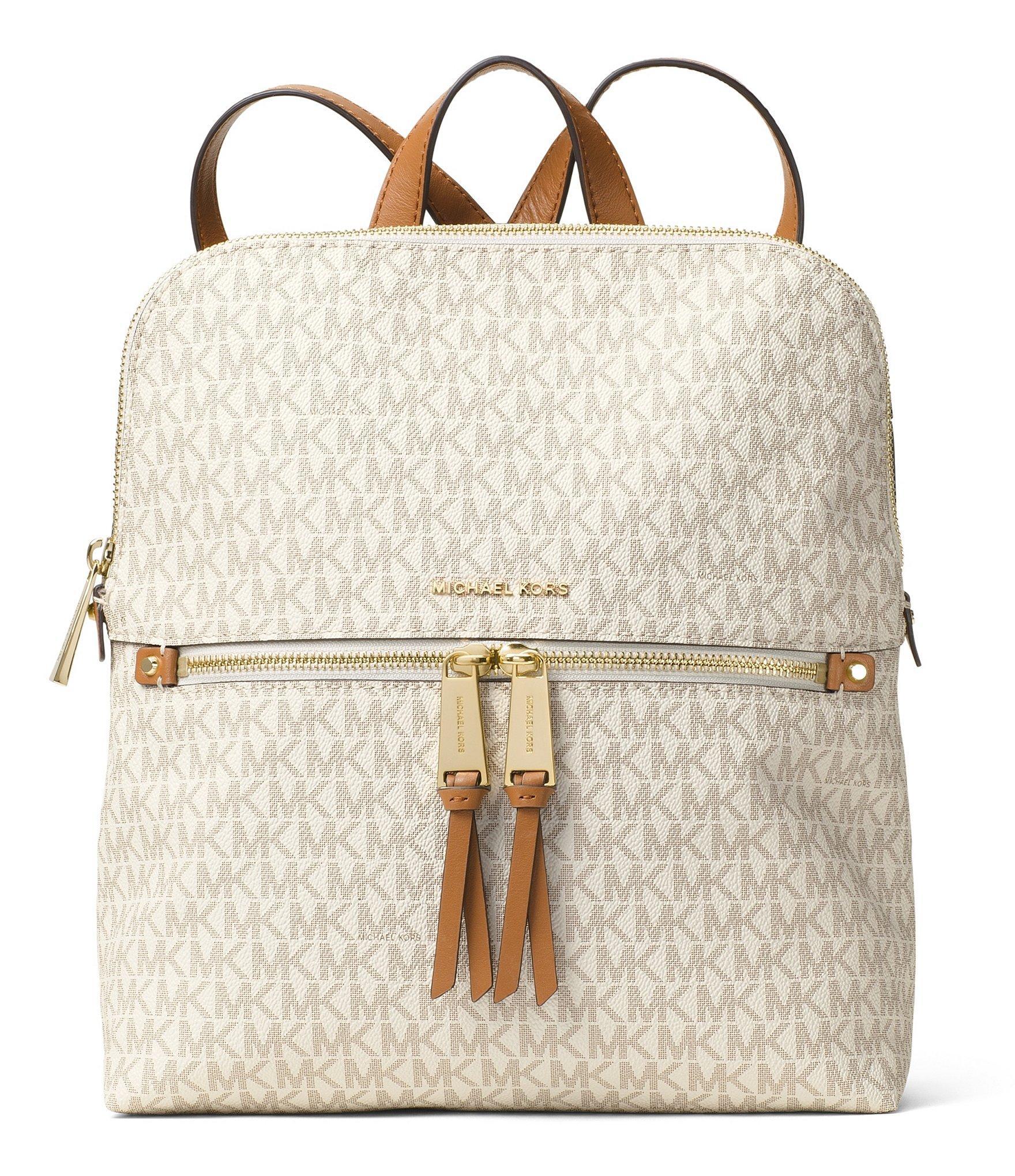 c4022700cb1a MICHAEL Michael Kors - Multicolor Rhea Signature Zip Slim Backpack - Lyst.  View fullscreen
