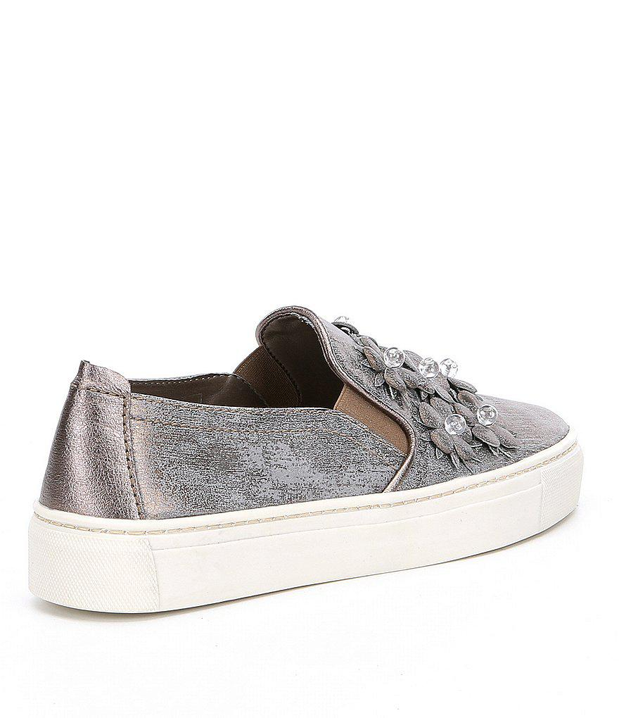 Sneak Blossom Floral Detail Embellishment Sneakers 2ZQe35iS